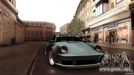 Porsche 911 Turbo RWB DS para GTA San Andreas vista hacia atrás