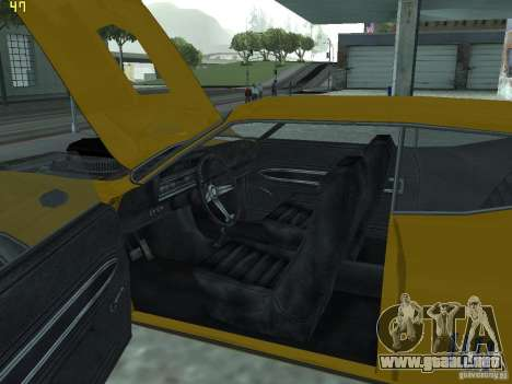 Ford Torino 70 para visión interna GTA San Andreas