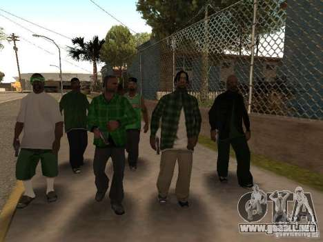 Nuevos aspectos de la pandilla de la calle Grove para GTA San Andreas sucesivamente de pantalla