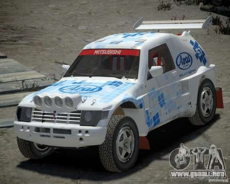 Mitsubishi Pajero Proto Dakar EK86 vinilo 3 para GTA 4