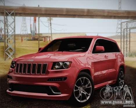 Jeep Grand Cherokee SRT-8 2012 para visión interna GTA San Andreas