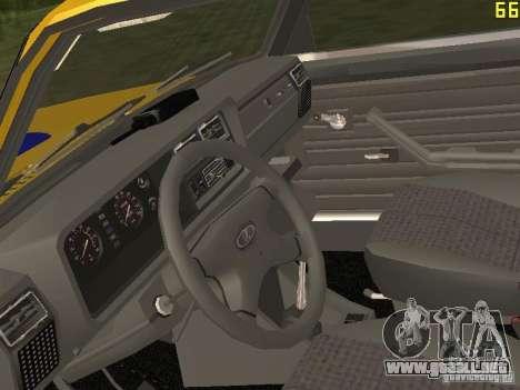 VAZ 2107 AUTO INSPECCIÓN para GTA San Andreas vista hacia atrás