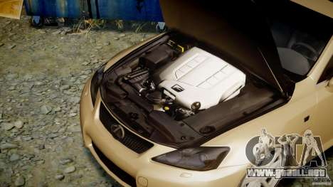 Lexus IS F para GTA 4 visión correcta