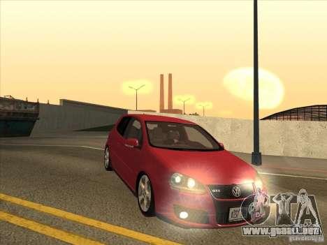 VW Golf Mk5 GTi - Stock: Tunable para GTA San Andreas vista hacia atrás