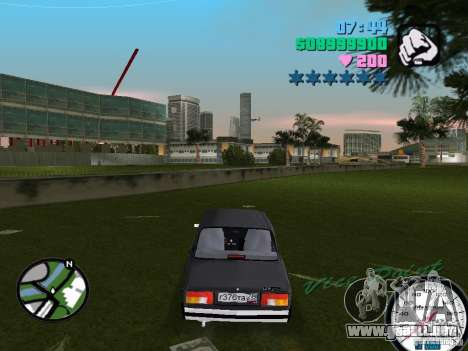 Vaz 2105 para GTA Vice City vista lateral izquierdo