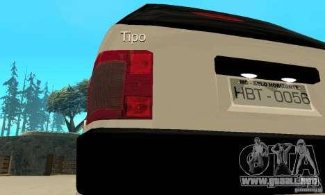 Fiat Tipo 2.0 16V 1995 para vista lateral GTA San Andreas