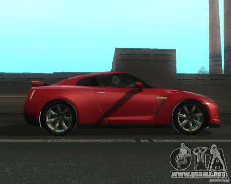 Nissan GTR R35 Spec-V 2010 Stock Wheels para GTA San Andreas left