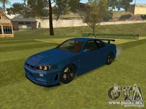 Nissan Skyline GT-R R34 from FnF 4 para GTA San Andreas