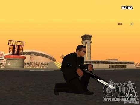 Blue Weapon Pack para GTA San Andreas sucesivamente de pantalla