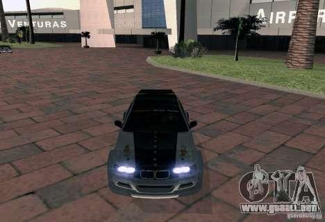 BMW M3 MyGame Drift Team para la visión correcta GTA San Andreas