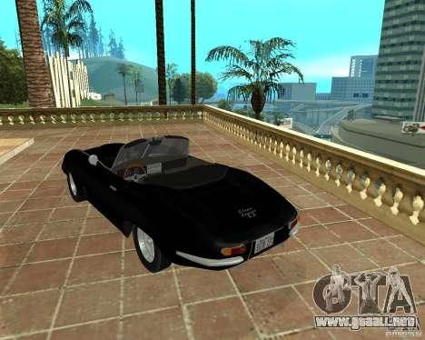Jaguar E-Type 1963 para GTA San Andreas left