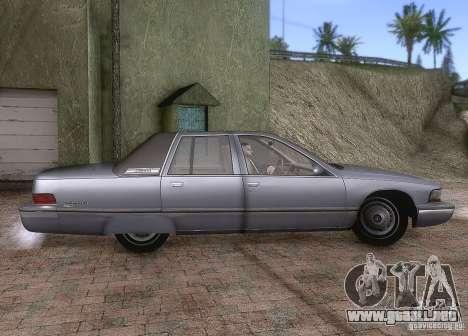 Buick Roadmaster 1996 para GTA San Andreas vista hacia atrás
