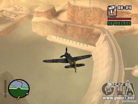 BF-109 G-16 para la visión correcta GTA San Andreas