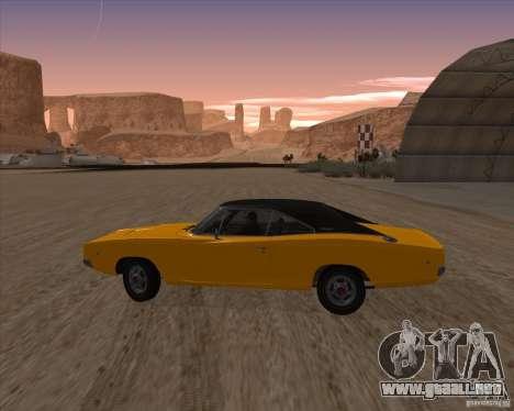 Dodge Charger RT 1968 Bullit clone para GTA San Andreas left
