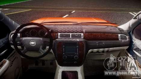 Chevrolet Silverado 2011 para GTA 4 vista hacia atrás