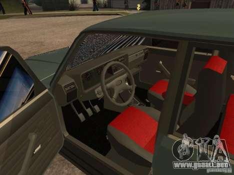 ВАЗ 21074 para GTA San Andreas vista hacia atrás