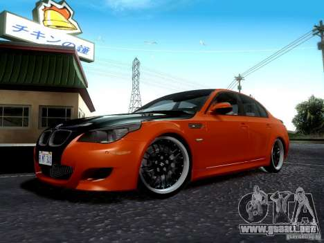 BMW M5 E60 2009 para la vista superior GTA San Andreas