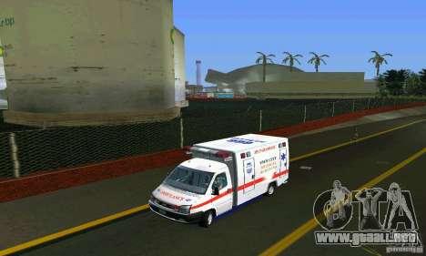 RTW Ambulance para GTA Vice City vista lateral izquierdo
