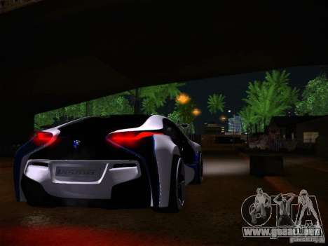 BMW Vision Efficient Dynamics I8 para GTA San Andreas vista hacia atrás