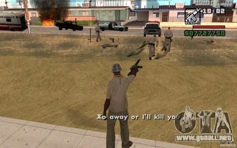 La amenaza de para GTA San Andreas segunda pantalla