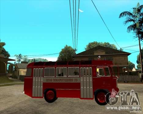Bombero PAZ 672 para la visión correcta GTA San Andreas