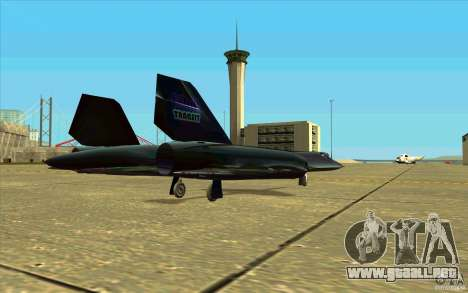 SR-71A BLACKBIRD BETA para visión interna GTA San Andreas