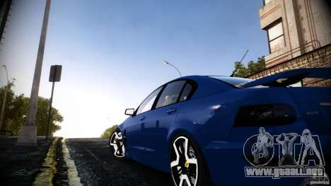 Holden HSV GTS para GTA 4 left