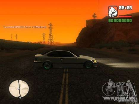BMW E36 Tuning para GTA San Andreas left