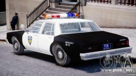 Chevrolet Impala Police 1983 [Final] para GTA 4 visión correcta