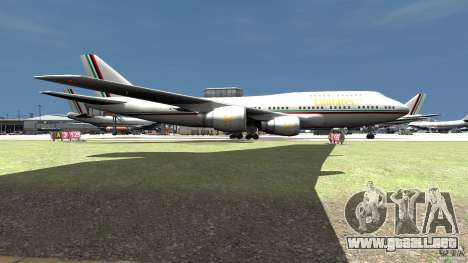 Real Emirates Airplane Skins Flagge para GTA 4 Vista posterior izquierda