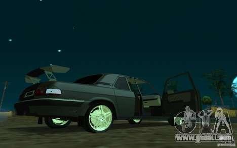 GAZ 31105 coupe para GTA San Andreas vista posterior izquierda