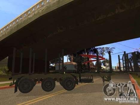 Remolque MAZ 99864 para la visión correcta GTA San Andreas