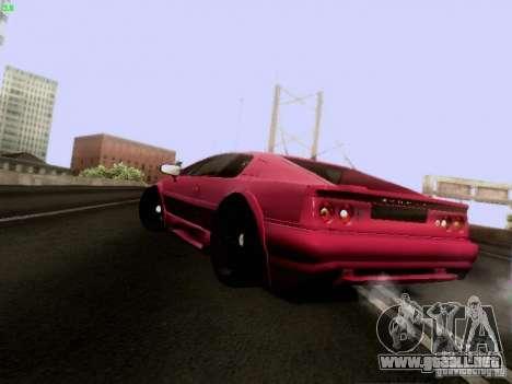 Lotus Esprit V8 para GTA San Andreas vista posterior izquierda