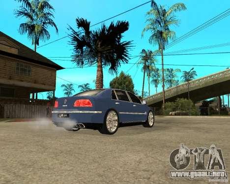 Volkswagen Phaeton para GTA San Andreas vista posterior izquierda