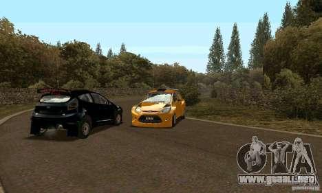 Ford Fiesta Rally para la visión correcta GTA San Andreas