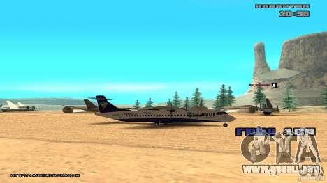 ATR 72-500 Air Azul para GTA San Andreas vista posterior izquierda