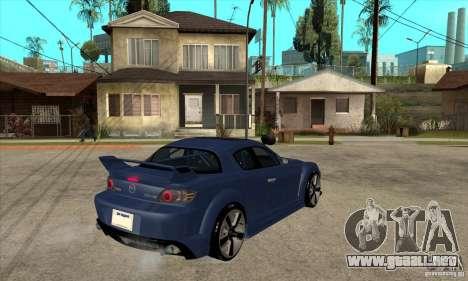 Mazda RX8 para la visión correcta GTA San Andreas