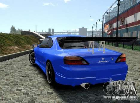 Nissan Silvia S15 para GTA 4 Vista posterior izquierda