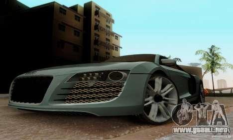 Audi R8 LeMans para GTA San Andreas left
