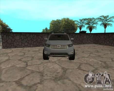 Toyota Highlander para la visión correcta GTA San Andreas