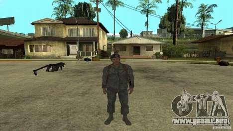 Shepard de CoD MW2 para GTA San Andreas quinta pantalla