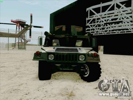 Hummer H1 para GTA San Andreas vista hacia atrás