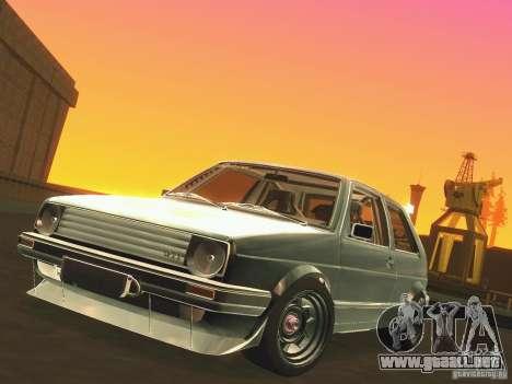 Volkswagen Golf MkII Racing para visión interna GTA San Andreas