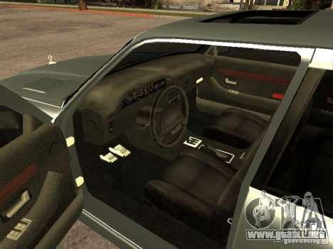 HD Mafia Sentinel para GTA San Andreas vista posterior izquierda