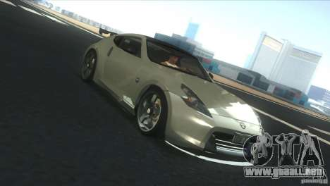 Nissan 370Z Drift 2009 V1.0 para vista lateral GTA San Andreas
