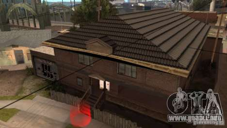 Nueva casa CJ (Cj nueva casa GLC prod v1.1) para GTA San Andreas segunda pantalla
