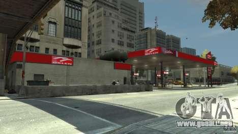 New gas station para GTA 4 adelante de pantalla
