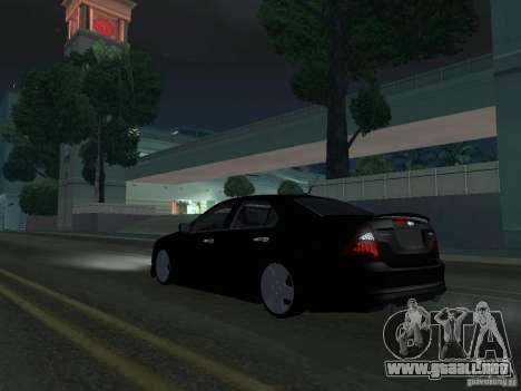 Ford Fusion para GTA San Andreas vista posterior izquierda