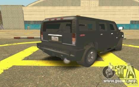 Hummer H2 Stock para la visión correcta GTA San Andreas