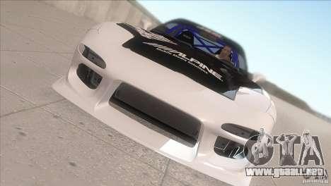 Mazda RX-7 FD K.Terej para visión interna GTA San Andreas